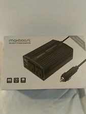 Maxboost 300W Power Inverter Dual 110V AC Outlet + Two 2.4A/24W USB Smart 12/12