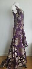 $7.000 Ralph Lauren Purple Label Purple Evening Gown Flare Dress Size 4 Small