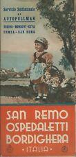 San Remo Ospedaletti Bordighera - Autopullman Torino Mondovì Ceva Ormea anni '30