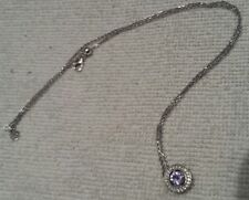 AA tanzanite & topaz sterling silver necklace