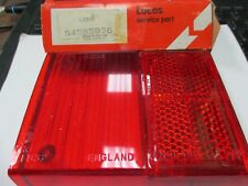 Triumph TR6 brake lamp lens NOS Lucas 54585936 new old stock right rear lens