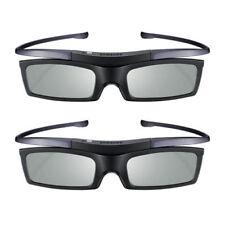 2Pcs Samsung 4K HD UHD SUHD 3D Active TV Shutter Glasses SSG-5100GB SSG-5150GB
