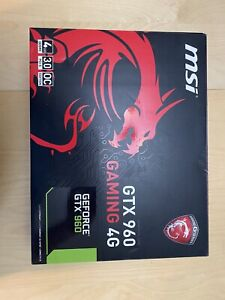 msi gtx 960 gaming 4gb vram black/red 400w recommended psu comes with box