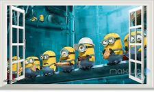 Minions Made Despicable Me 2 3D Window Kids Wall decor Stickers Party Decor Art
