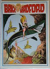 BRICK BRADFORD tavole domenicali a colori collana gertie daily 99 comic art 1980