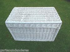 Wäschetruhe Spielzeugtruhe Weiß 60 Wäschebox Wäschekorb Korb Truhe Rattan Lack