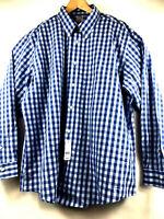 BROOKS BROTHERS Regent Mens Blue Plaid Supima Cotton Long Sleeve Shirt XXL $92