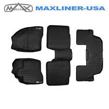Smartliner 2015-2016 Ford Explorer All Weather Custom Fit Floor Mats Set Black