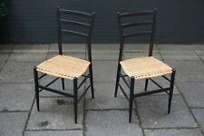 2x Vintage Stühle Chair Esszimmerstühle Ratten Cane 60er 70er Mid Century