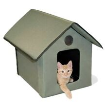 K&H Pet Products Indoor/Outdoor Heated Thermo Kitty Cat House N