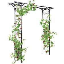 Metal Steel Rose Arch Pergola Trellis Garden Climbing Plants Support Archway US