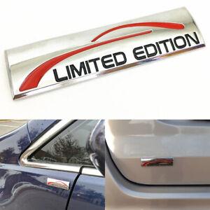 Car Glossy Silver 3D Metal Limited Edition Logo Emblem Auto Badge Sticker Decal