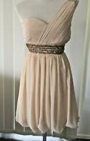 Ladies Dress One Shoulder Formal/Princess/Bridesmaid Lined Sz 12 BNWT