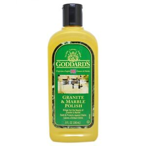 Goddards Granite & Marble Polish 240ml Seals and Protects from Water Spotting