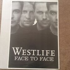 Huge Rare WESTLIFE Original Promo Rock Pop Music Poster Memorabilia B/W Photo