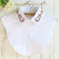 Embroidery Detachable Collars Thick Shirt Casual Fake Collar Decors Collar_dr
