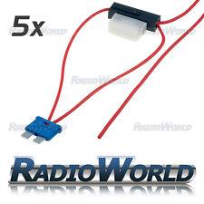 5x InLine 8 A Fusibile lama ATC RUBINETTO CAR AUDIO rapido Ingition LIVE GIUNZIONE aggiungi circuito