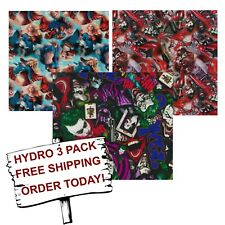 HYDROGRAPHIC WATER TRANSFER HYDRO DIP HYDRO DIPPING FILM DC 3 PACK