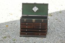 Vintage Oak H GERSTNER & SONS Machinist Tool Chest 7 Drawers Dayton Ohio