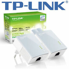 TP-LINK TL-PA4010 AV500 Nano Powerline Adapter Starter Kit  Bridge HomePlug AV
