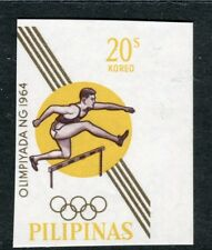 PHILIPPINES;  1964 early Olympics Imperf issue Mint MNH Unmounted 20c.