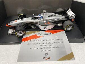 1/18 Minichamps 2007 F1 McLaren MP4-12 Mika Hakkenin Mercedes Packing RARE