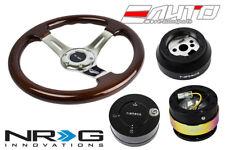"NRG 330 BR Wood CH S Steering Wheel 1.5"" D 170H Hub 2.0 BK Neo Release Lock LB a"