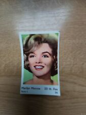 Dutch Movie Star Gum Card Serie L   nr 26  Marilyn Monroe