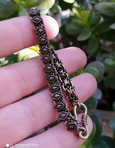 Hand Made Natural Bronze Chain Bracelet Hand Crafted Women Gift