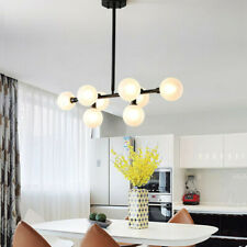 Glass Chandelier Lighting Kitchen Pendant Light Modern Ceiling Lights White Lamp
