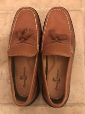 Tommy Bahama Brandy Leather Moccasin Loafers - Men's Size 8