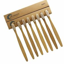 8PCS/lot Dr.Perfect Bamboo Toothbrush Oral Care  Super Soft White Bristles