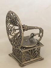 Italy Silver Miniature Gramophone Dollhouse Phonograph