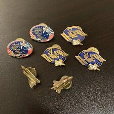 RARE Vintage NASA & BOEING Lot of 7 Pins STS-101 Apollo 14 XVII XII 15 HTF EUC