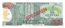 Guatemala   1  Quetzal  5.1.1972  P 59as   Specimen 051 Uncirculated Banknote