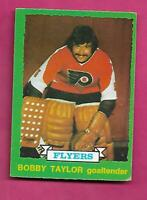 1973-74 OPC # 238 FLYERS BOBBY TAYLOR  ROOKIE VG+ CARD (INV# C4810)