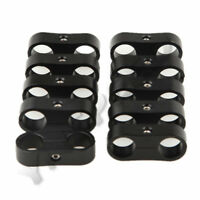 10PCS AN-6 AN6 13.5mm Billet Aluminum Fuel Hose Separator Fittings Adapter Black