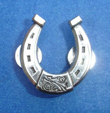 Western Equestrian Tack Single Horseshoes Polished Silver Concho's Set of 6