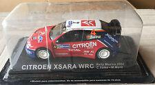 "DIE CAST "" CITROEN XSARA WRC RALLY MEXICO - 2004 "" RALLY DEA SCALA 1/43"