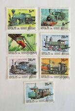 GUINEA BISSAU  SET of 7  LOCOMOTIVES   ISSUED 1984    Sc#619-25  SEE PIC
