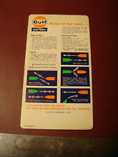 Vintage RARE Gulf Marine Products Rules of the Road Sticker