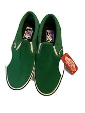 Vans Slip On Green suede  size 10 1/2 Mens NEW