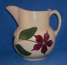 Vintage Watt Pottery Starflower 5 Petal  # 17 Pitcher