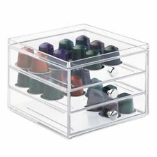 Nespresso Coffee Capsule Pod Holder 48 Pcs 3-Drawer Storage Organizer Kitchen