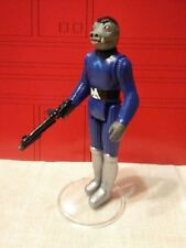 Custom Vintage Blue Snaggletooth Star Wars Complete with modern imperial blaster