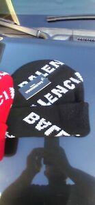 Balenciaga  Logo Beanie Supreme Drip red