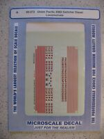 Microscale Decal N Scale 60-373 Union Pacific EMD Switcher Diesel Locomotives