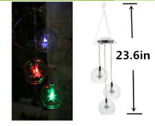 "Unique Stylish Solar Powered LED Wind Chime Light 23.6"" Tall"