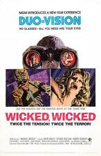 WICKED, WICKED Movie POSTER 27x40 David Bailey Tiffany Bolling Randolph Roberts