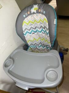 Ingenuity Trio 3 in 1 Replacement High Chair *Tray With Cloth* (no Straps)  Gray